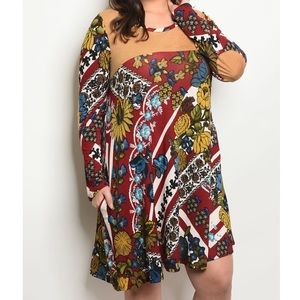 ➕Trendy Elbow Patch Tunic Dress